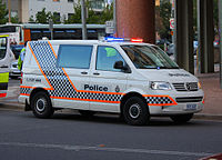 AFP vehicle in Canberra