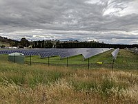 The Mount Majura Solar Farm has a rated output of 2.3 megawatts and was opened on 6 October 2016.