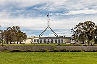 Parliament House in Canberra houses the Parliament of Australia