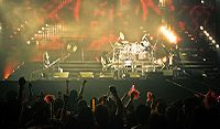Concert of pioneer of visual kei, X Japan at Hong Kong in 2009 after their 2007 reunion