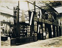 Victoria's stand at the Paris Exhibition Universal of 1867, showing bales of wool