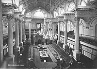 The Legislative Council Chamber, as photographed in 1878