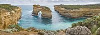 Island Archway on the Great Ocean Road in Victoria, Australia.