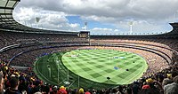 Panorama of the MCG during the AFL Grand Final on 30 September 2017
