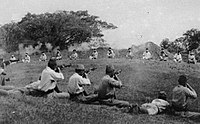 Japanese soldiers shooting blindfolded Sikh prisoners