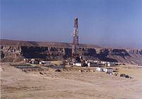 Drilling for oil using a land rig