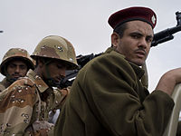 Soldiers of the Yemeni Army in 2011.