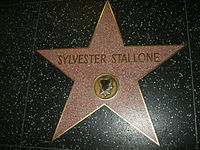 Stallone's star on the Hollywood Walk of Fame