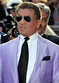 Stallone promoting The Expendables 3 at the 2014 Cannes Film Festival