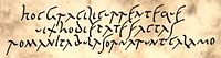 A replica of the Old Roman Cursive inspired by the Vindolanda tablets, the oldest surviving handwritten documents in Britain.