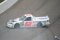 Tyler Reddick, seen here spinning out, drove for the team in one race at Rockingham in 2013.