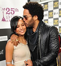 Kravitz with his daughter Zoë in March 2010