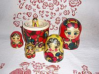 Matryoshka doll taken apart