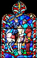 Robert Edward Lee in art at the Battle of Chancellorsville in a stained glass window of the Washington National Cathedral