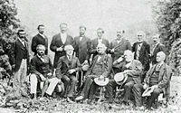 General Lee and his Confederate officers in their first meeting since Appomattox, August 1869.