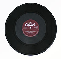 A twelve-inch gramophone record