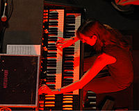 Barbara Dennerlein has been praised for her work on the Hammond's bass pedals.
