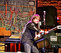 """""""I took to riding the L100 like a bucking bronco. It weighs 350 lb; when it's on top of you, you need the adrenalin rush you get onstage to chuck it around."""" Keith Emerson"""