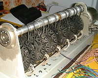 A prototype light-weight tonewheel generator, produced at the Hammond Organ Company's factory in Antwerp