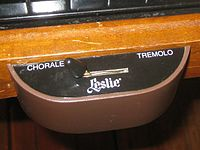"""A """"half-moon""""-shaped switch for changing the speed of a Leslie speaker"""