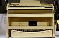 The Concert Model E was designed for the church and features a full 32-note pedalboard.