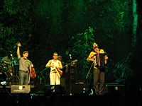 French Romani Manouche band performing during Rainforest World Music Festival 2006