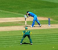 Kohli batting against South Africa in Cardiff during the Champions Trophy in June 2013