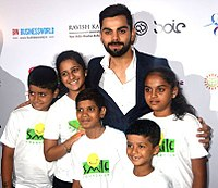 Kohli at a VKF charity event in June 2016