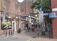 Canal Street is a popular LGBT destination in Manchester