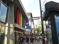Metro station in Montreal's Gay Village district