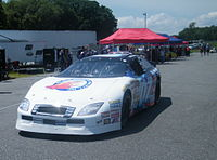 LaJoie's No. 07 NASCAR Camping World East Series car at Thompson Speedway Motorsports Park in 2009