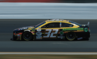 LaJoie practicing at New Hampshire Motor Speedway