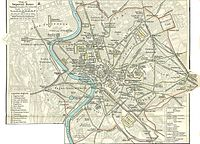 Map of Rome in 350