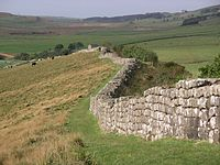 Parts of Hadrian's Wall in Britain remain to this day.