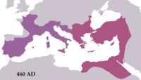 The western and eastern halves of the empire under Majorian and Leo (460)
