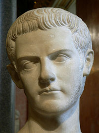 Marble bust of Caligula, the Louvre