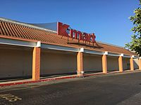 A Kmart location in Redwood City, California in August 2016. This store was closed in April 2020 along with 43 other Sears and Kmart stores.