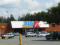 A smaller Big Kmart located in Greenwich, New York in 2017. This store closed in March 2019 along with 79 other Kmart and Sears stores.