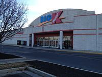 Big Kmart store in Carlisle, Pennsylvania, December 2012. It was later converted into a regular Kmart with the current logo. This store closed in December 2018, along with 141 other Kmart and Sears stores.