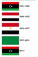 Versions of the Libyan flag in modern history