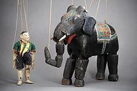 Elephant and young man, late 19th-century, Burma