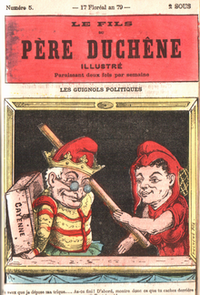 Polichinelle caricature, France