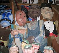 Puppets in the Bread and Puppet Theater Museum in Glover, Vermont, USA