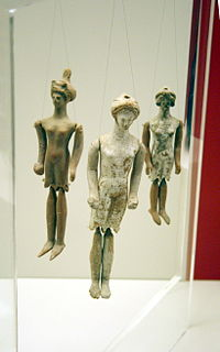 Ancient Greek terracotta puppet dolls, 5th/4th century BC, National Archaeological Museum, Athens