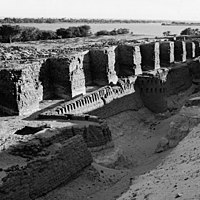Fortress of Buhen, of the Middle Kingdom, reconstructed under the New Kingdom (about 1200 B.C.)