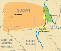 Southern Sudan in c.undefined 1800
