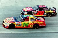 Kenny Irwin Jr. driving in the 1998 NASCAR Winston Cup