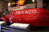 1939 Texaco tanker truck by Dodge on display at the Henry Ford Museum