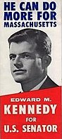 A brochure for Kennedy's 1962 campaign