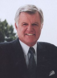 Kennedy's official Senate portrait in the 1990s